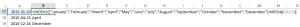 Excel - nazwy miesięcy funkcją INDEKS, tabela w formule